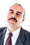 Uomo d'affari calmo Immagini Stock