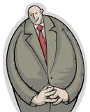 Uomo d'affari calmo e timido Immagine Stock