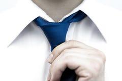 Uomo d'affari in camicia bianca Fotografia Stock