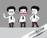 Uomo d'affari Cartoon Character Fotografia Stock Libera da Diritti