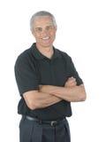 Uomo d'affari casuale con le braccia piegate Fotografia Stock Libera da Diritti