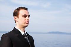 Uomo d'affari caucasico Fotografia Stock