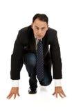 Uomo d'affari caucasico attraente, corsa Immagini Stock Libere da Diritti