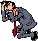 Uomo d'affari che affronta la testa Fotografia Stock