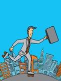 Rotolamento dell'uomo d'affari con il copyspace Fotografia Stock Libera da Diritti