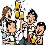 Uomo d'affari che beve con gli amici Immagine Stock