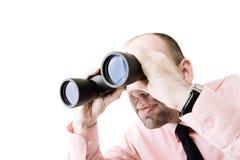 Uomo d'affari che cerca i nuovi modi fotografia stock libera da diritti