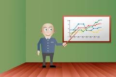 Uomo d'affari che dà una presentazione in ufficio Immagine Stock