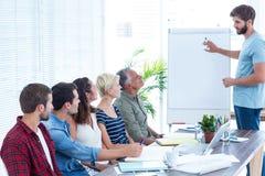 Uomo d'affari che dà una presentazione Immagini Stock