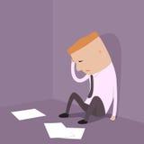 Uomo d'affari che fallimento. Fotografia Stock