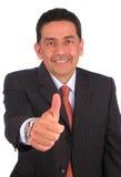 Uomo d'affari che Gesturing i pollici in su Immagine Stock Libera da Diritti