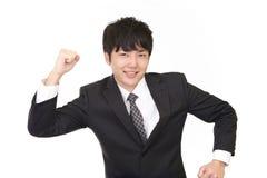 Uomo d'affari che gode del successo Immagine Stock Libera da Diritti