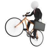 Uomo d'affari che guida una bicicletta royalty illustrazione gratis