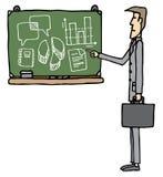 Uomo d'affari di apprendimento/della scuola di commercio Fotografia Stock