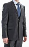 Uomo d'affari che indossa vestito e legame convenzionali Immagine Stock