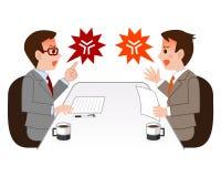 Uomo d'affari che litiga nel negoziato Immagini Stock