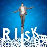 Uomo d'affari che lo rischia Fotografia Stock