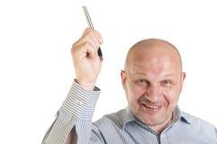 Uomo d'affari che mostra indicare su. Immagine Stock Libera da Diritti