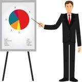 Uomo d'affari che mostra la presentazione Immagini Stock