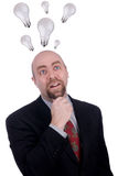 Uomo d'affari che ottiene un'idea Immagine Stock