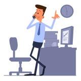 Uomo d'affari che parla sul telefono Fotografie Stock