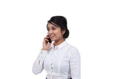 Uomo d'affari che parla sul telefono cellulare Fotografia Stock Libera da Diritti