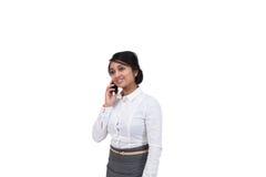 Uomo d'affari che parla sul telefono cellulare Immagini Stock