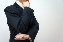 Uomo d'affari che pensa. Fotografia Stock Libera da Diritti