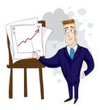 Uomo d'affari che piombo una conferenza illustrazione di stock