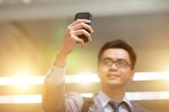 Uomo d'affari che prende selfie Immagine Stock Libera da Diritti