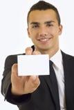 Uomo d'affari che presenta scheda Fotografia Stock Libera da Diritti