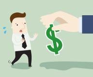 Uomo d'affari che rifiuta soldi offerti dall'altra società Fotografie Stock Libere da Diritti