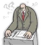 Uomo d'affari che risolve un dilemma Fotografie Stock