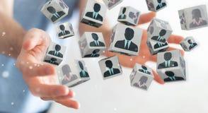 Uomo d'affari che sceglie candidato per una rappresentazione di lavoro 3D Fotografia Stock
