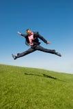 Uomo d'affari che scorre veloce per funzionare Fotografie Stock