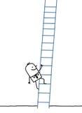 Uomo d'affari che si arrampica in su Immagini Stock