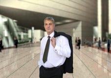 Uomo d'affari che va funzionare Immagine Stock