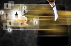 Uomo d'affari Choosing la persona giusta Immagini Stock