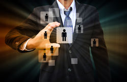 Uomo d'affari Choosing la persona giusta Fotografie Stock Libere da Diritti