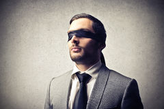 Uomo d'affari cieco Fotografie Stock Libere da Diritti