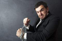Uomo d'affari colpevole fotografie stock