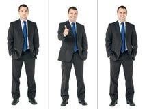 Uomo d'affari combinato fotografie stock