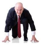 Uomo d'affari competitivo Fotografia Stock Libera da Diritti