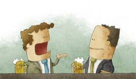Uomo d'affari con birra Immagine Stock Libera da Diritti
