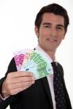 Uomo d'affari con contanti Fotografia Stock Libera da Diritti