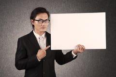 Uomo d'affari con copyspace Fotografie Stock Libere da Diritti