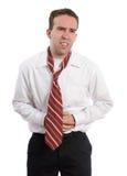Uomo d'affari con diarrea Immagini Stock Libere da Diritti