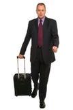 Uomo d'affari con i bagagli di corsa Immagine Stock Libera da Diritti