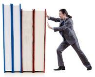 Uomo d'affari con i libri Fotografie Stock