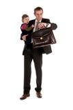 Uomo d'affari con il bambino Fotografie Stock